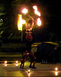 クライストチャーチで火の舞