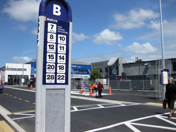 New Bus Exchange in Christchurch