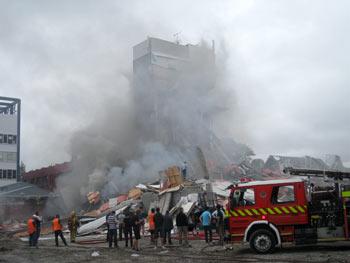 ニュージーランドクライストチャーチで地震