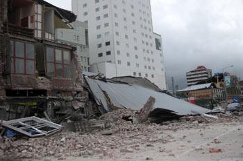 ニュージーランドのクライストチャーチで地震