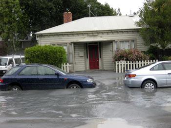 ニュージーランドのクライストチャーチで大地震