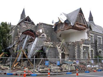 ニュージーランド、クライストチャーチの地震