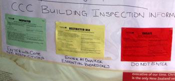 ニュージーランド地震 建物の暫定審査