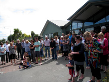 ニュージーランド地震 黙祷