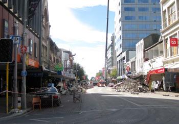 ニュージーランド地震 コロンボストリート