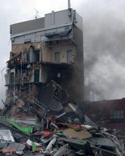 ニュージーランド地震 CTV 地震直後