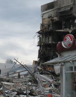 ニュージーランド地震 CTV 地震2日後