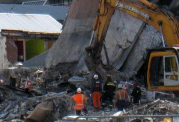 ニュージーランド地震 CTV 地震1週間後