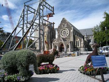 ニュージーランド地震 クライストチャーチ大聖堂