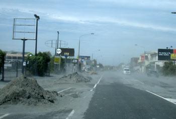 ニュージーランド地震 ダスト