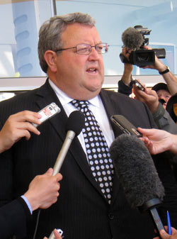 Earthquake Recovery大臣のGerry Brownlee