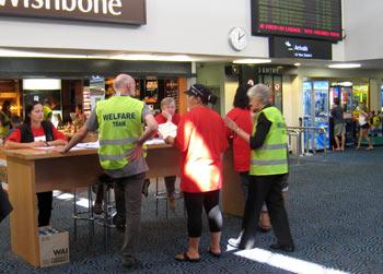 ニュージーランド地震 オークランド空港にて