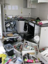 ニュージーランド地震 家の中
