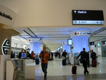 クライストチャーチ空港の新しいチェックインカウンター