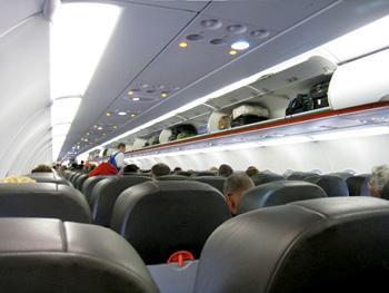 ジェットスターの機内