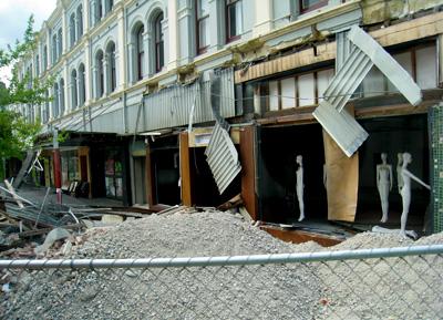ハイストリート クライストチャーチ地震