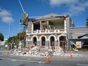 クライストチャーチ地震後のカールトン