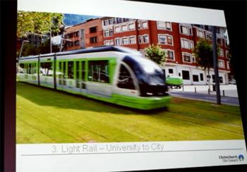クライストチャーチの未来の電車?