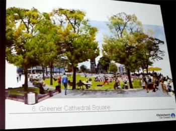 未来のクライストチャーチ大聖堂広場イメージ