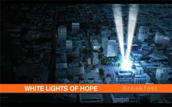 クライストチャーチ大聖堂から希望の光