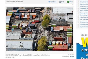 クライストタチャーチ地震以来初めての賑わい
