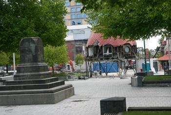 地震後のクライストチャーチ大聖堂広場