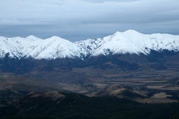ニュージーランドの雪山