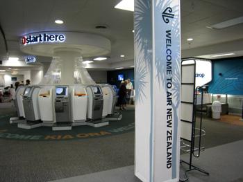 ニュージーランド航空自動チェックイン