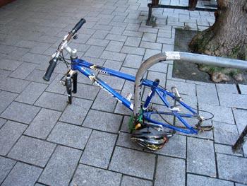 盗難にあった自転車